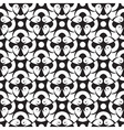 seamless abstract monochrome pattern vector image vector image