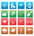 season activity icon set vector image vector image