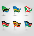 set of flags states of east african community vector image vector image