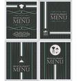 Set of restaurant menu design cover template in vector image vector image