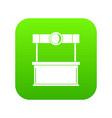shopping counter icon digital green vector image vector image