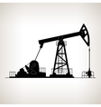 Silhouette Pumpjack or Oil Pump vector image vector image