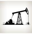 Silhouette Pumpjack or Oil Pump vector image