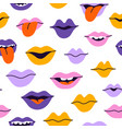smiles and kisses pattern vector image