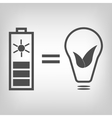 Solar battery as eco friendly source of energy vector image vector image