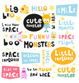 space phrases vector image vector image