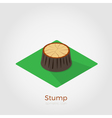 Stump isometric vector image