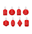 tag sale red label discount and price vector image vector image