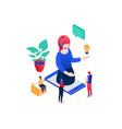 technical support - modern colorful isometric vector image vector image