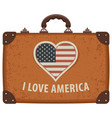 travel suitcase with words i love america vector image vector image