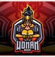 women knight esport mascot logo vector image vector image