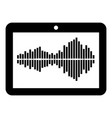 tablet icon simple black style vector image