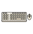 computer keyboard isolated icon vector image