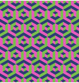 abstract 3d background of isometric hexagonal vector image vector image