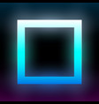 abstract blue glowing square geometric vector image vector image