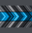 abstract blue grey arrow line pattern direction vector image vector image
