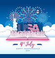 america independence day with firework vector image vector image