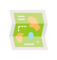 amusement park map icon amusement park related vector image vector image