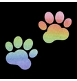 Animal Tracks Watercolor vector image