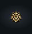 arabic decorative pattern gold islamic symbol vector image vector image