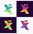 awesome gradient letter logo design vector image vector image