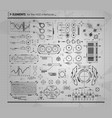 black and white infographic elements hud ui for vector image vector image