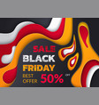 black friday best offer 50 percent reduction vector image vector image