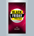 black friday sale promotion editable templates vector image vector image
