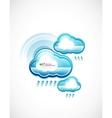 blue technology cloud vector image