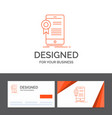 business logo template for certificate vector image