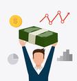 Business profit design vector image