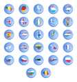 buttons with flags states european u vector image