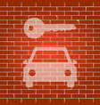 car key simplistic sign whitish icon on vector image vector image
