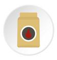 cardboard box of matches icon circle vector image vector image