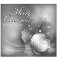 christmas background baubles gray 10 SS v vector image