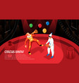 circus show isometric horizontal vector image vector image