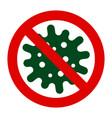 coronavirus 2019 ncov stop icon coronavirus vector image