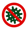 coronavirus 2019 ncov stop icon vector image