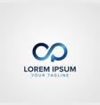 creative letter op logo concept design templates vector image