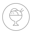 Cup of an ice cream line icon vector image vector image