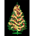 Decoration Christmas tree vector image vector image