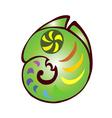 Decorative chameleon vector image