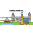 germany wuppertal city skyline architecture vector image vector image