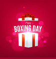 happy boxing day with open gift box vector image vector image