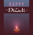 happy diwali indian festival of lights lettering vector image vector image