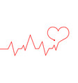 heartbeat line red cardiogram as symbol life vector image