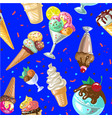 icecream seamless pattern design vector image vector image