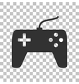 Joystick simple sign Dark gray icon on vector image vector image