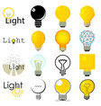 light lamp icons set cartoon style vector image vector image