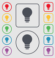 Light lamp Idea icon sign symbol on the Round and vector image vector image